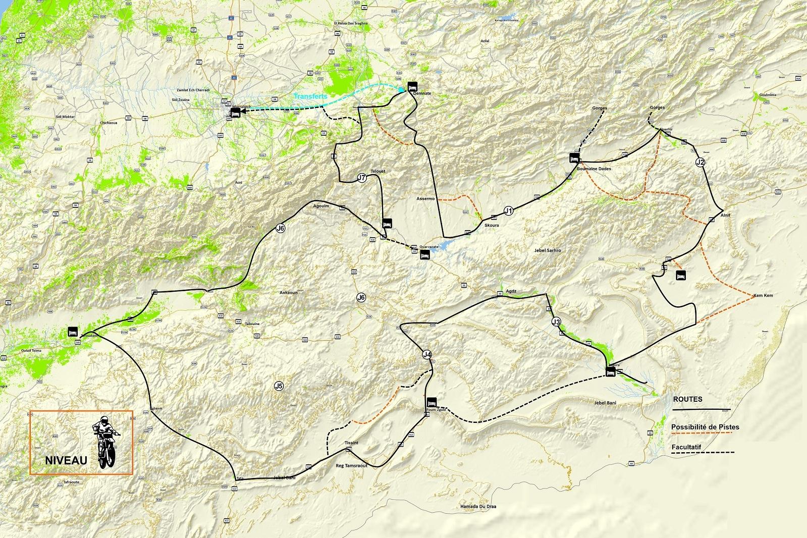 Haut Atlas et vallée du Draa à Moto